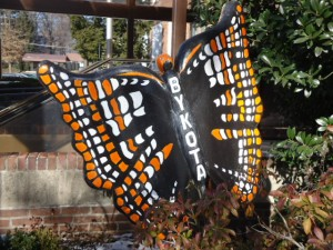 Painted Sculpture of Butterfly